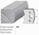 Omezovač profilového nože 08 Pilana