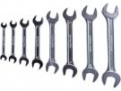 Klíče ploché, sada 8ks, 6x7, 8x9, 10x11, 12x13, 14x15, 16x17, 18x19, 20x22mm