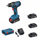 AKU vrtací šroubovák Bosch GSR 18-2-Li, 3x1,5Ah, L-Boxx