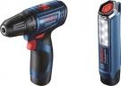 Akumulátorový vrtací šroubovák GSR 120-LI + GLI 12V-300 Bosch  Professional 06019G8004